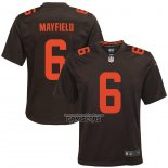 Camiseta NFL Game Nino Cleveland Browns Baker Mayfield Alterno Marron
