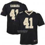 Camiseta NFL Game Nino New Orleans Saints Alvin Kamara Negro