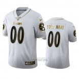 Camiseta NFL Limited Pittsburgh Steelers Personalizada Golden Edition Blanco