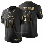 Camiseta NFL Limited Pittsburgh Steelers Personalizada Golden Edition Negro