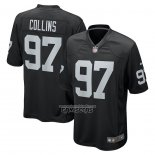 Camiseta NFL Game Las Vegas Raiders Maliek Collins Negro