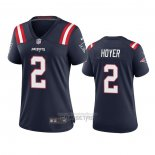 Camiseta NFL Game Mujer New England Patriots Brian Hoyer 2020 Azul
