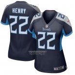 Camiseta NFL Game Mujer Tennessee Titans Derrick Henry Azul
