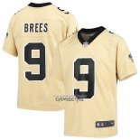 Camiseta NFL Game Nino New Orleans Saints Drew Brees Inverted Oro