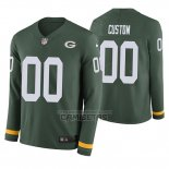 Camiseta NFL Green Bay Packers Personalizada Verde Therma Manga Larga