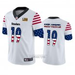 Camiseta NFL Limited Pittsburgh Steelers JuJu Smith-Schuster Independence Day Blanco